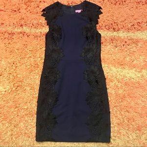 382c1ce459 ... Betsy Johnson Navy with black lace dress NWOT ...
